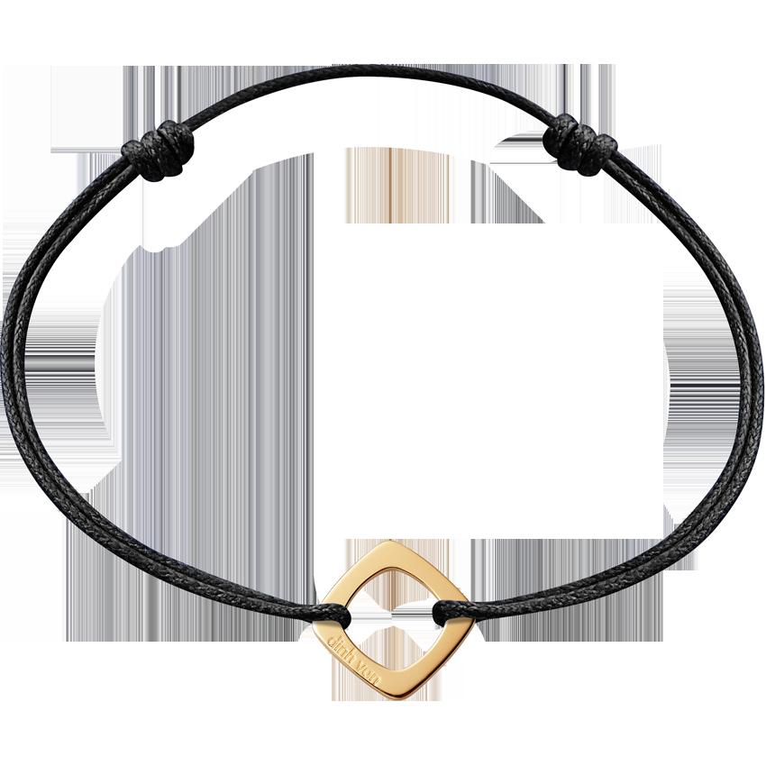 Bracelet sur cordon Impression petit modèle or jaune