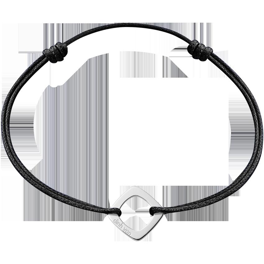 Bracelet sur cordon Impression petit modèle or blanc