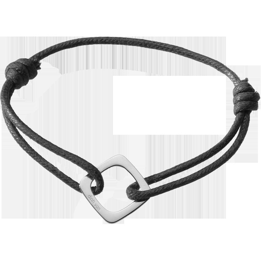 Bracelet sur cordon Impression grand modèle or blanc
