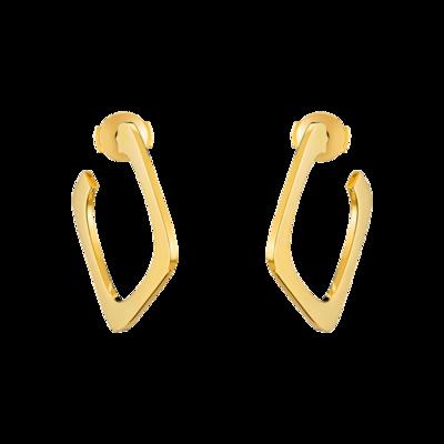 Créoles Impression petit modèle or jaune