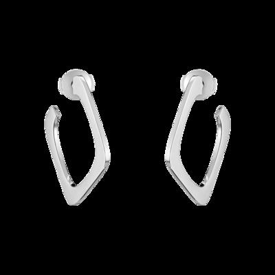 Créoles Impression petit modèle or blanc