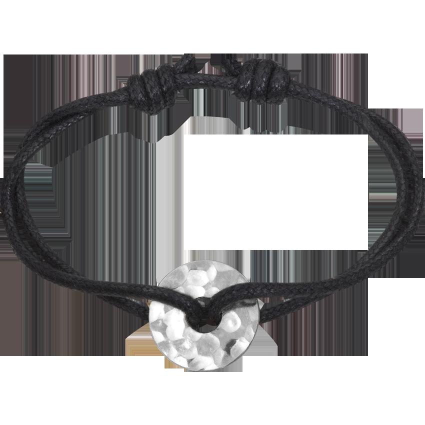 Bracelet sur cordon Pi Chinois argent
