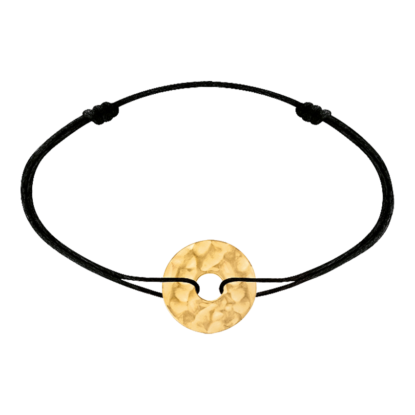 Bracelet sur cordon Pi Chinois or jaune