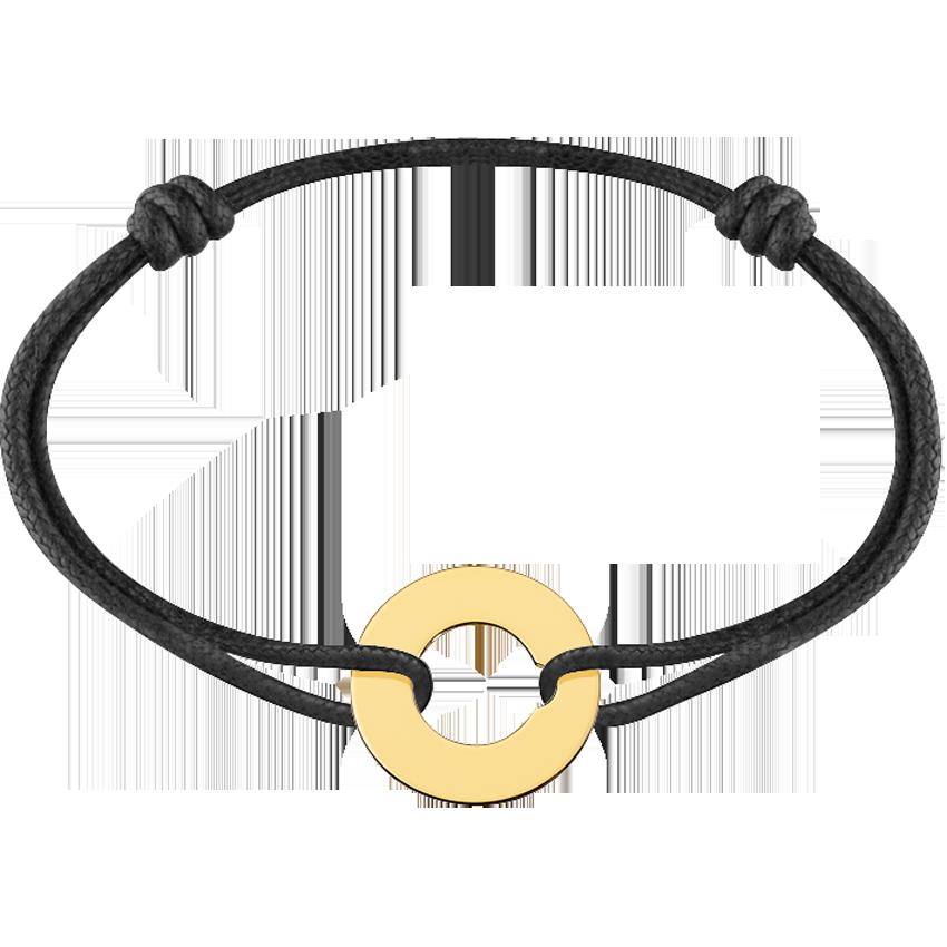 Bracelet sur cordon Cible grand modèle or jaune