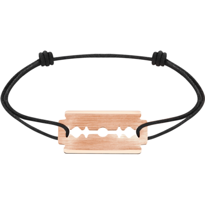 Bracelet sur cordon Lame de Rasoir or rose PM