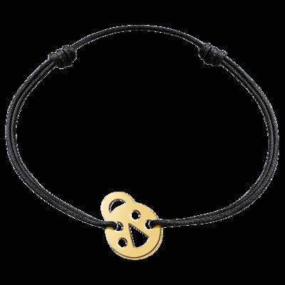 Bracelet sur cordon Bubbles coccinelle or jaune