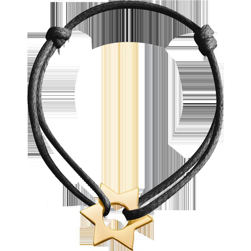 Bracelet sur cordon Etoile or jaune