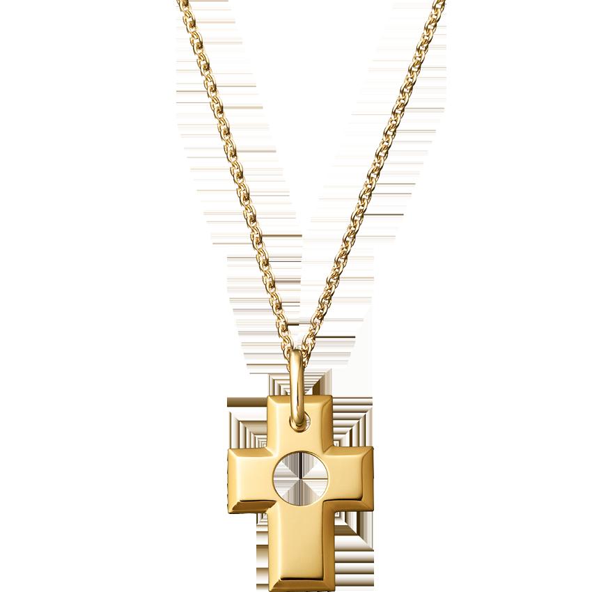 Pendentif Croix Percée or jaune