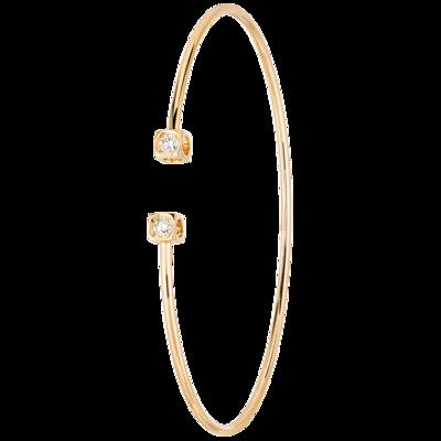 Bracelet Le Cube Diamant petit modèle or jaune et diamants