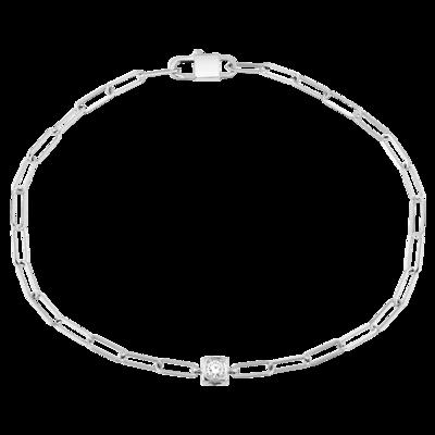 Bracelet Le Cube Diamant or blanc et diamant