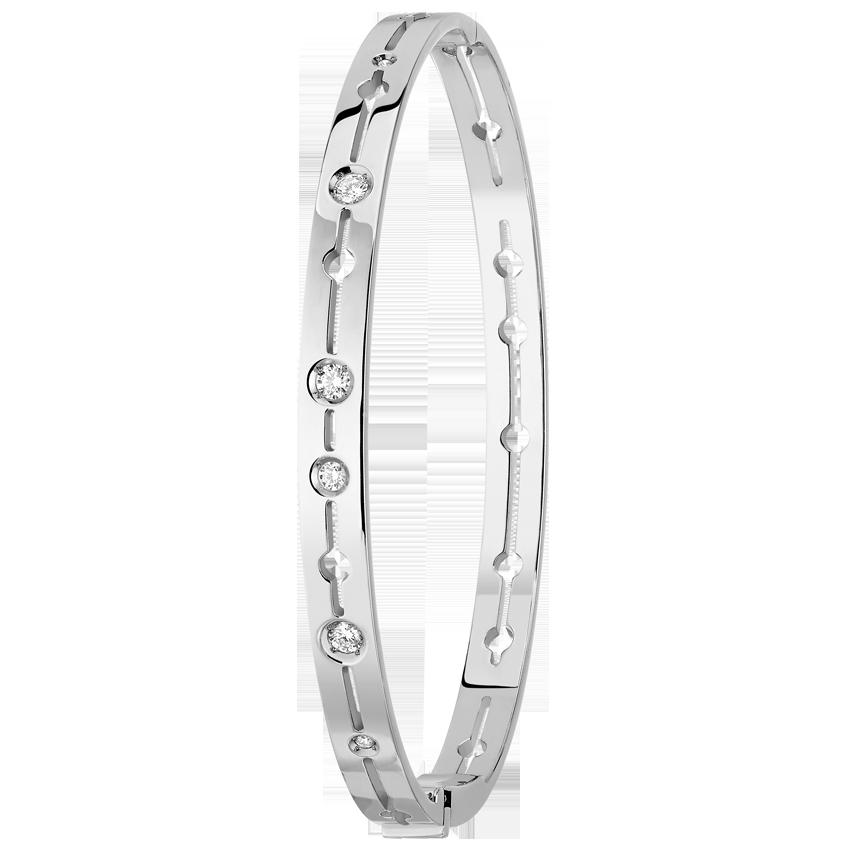 Bracelet Pulse dinh van or blanc et diamants