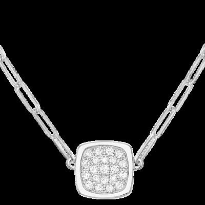 Collier Impression petit modèle or blanc et diamants