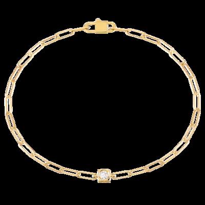 Bracelet Le Cube Diamant or jaune et diamant