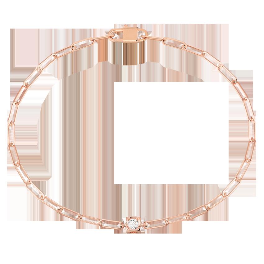 Bracelet Le Cube Diamant or rose et diamant