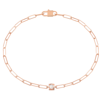 Bracelet Le Cube Diamant or rose et diamant