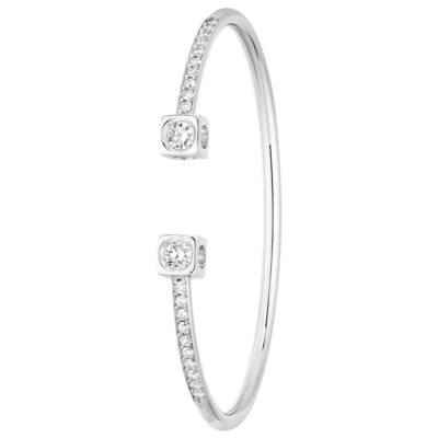 Bracelet Le Cube Diamant XL or blanc et diamants