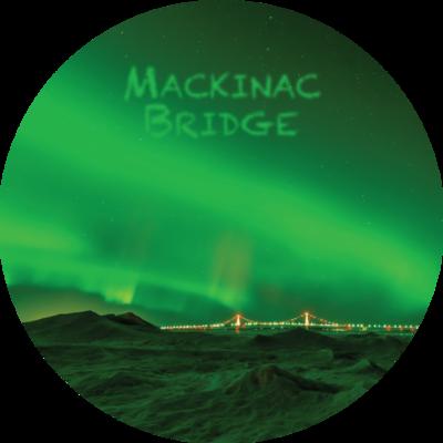 Mackinac Bridge - Northern Lights Magnet