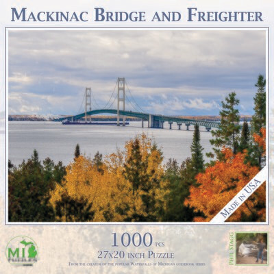 MACKINAC BRIDGE WITH FREIGHTER - 1,000 PIECE