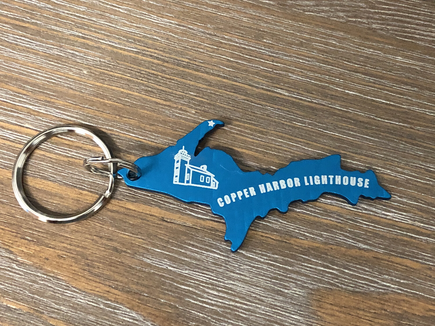 Copper Harbor Lighthouse Keychain