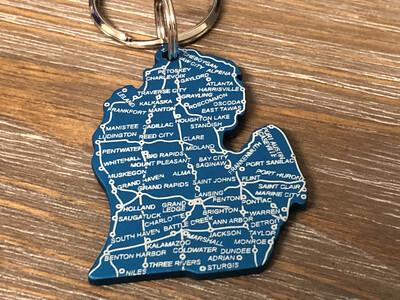 Lower Peninsula Map Keychain