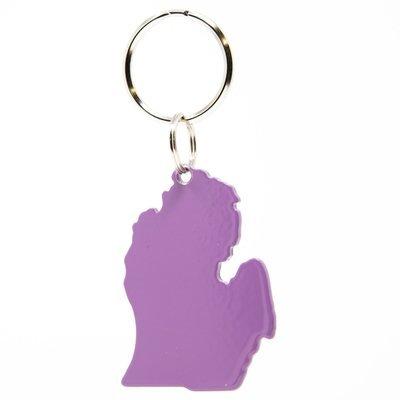 Lower Peninsula Key Chain - Purple