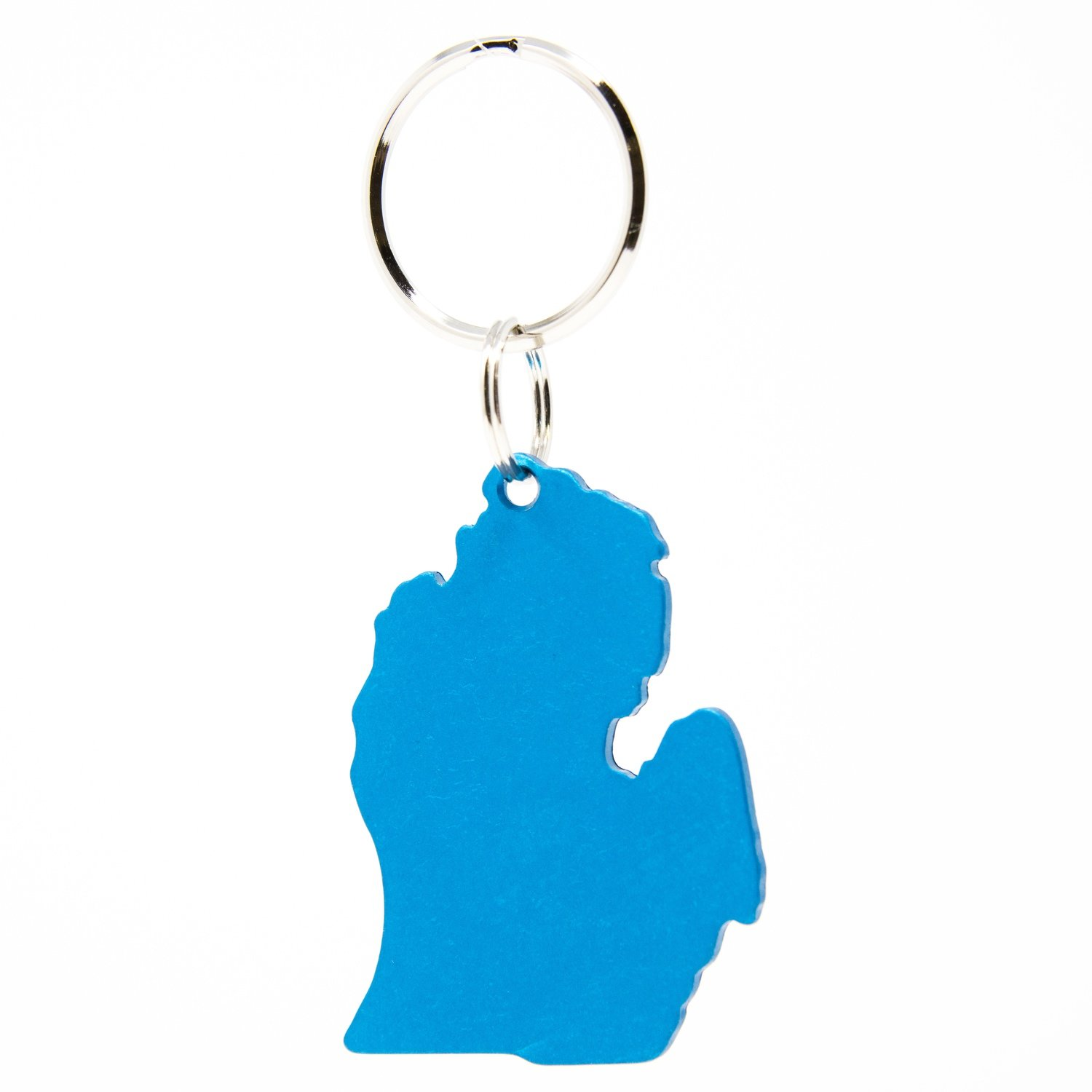 Lower Peninsula Key Chain - Blue Anodized
