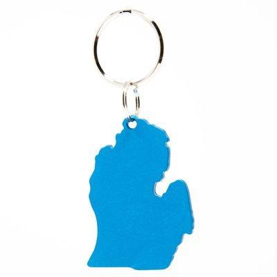 Lower Peninsula Key Chain - Blue Anodized