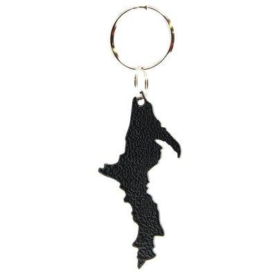 Upper Peninsula Key Chain - Textured Black