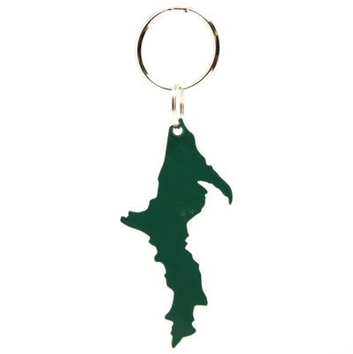 Upper Peninsula Key Chain - Forest Green