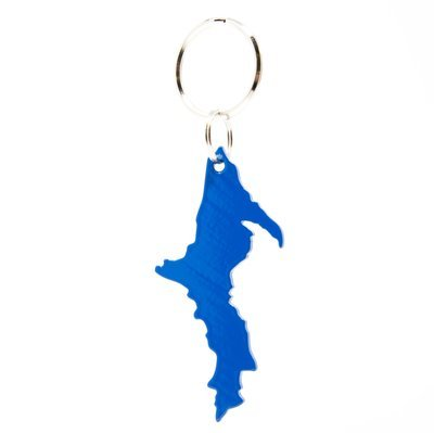 Upper Peninsula Key Chain - Blue