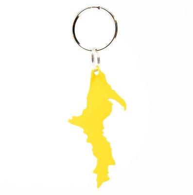 Upper Peninsula Key Chain - Yellow