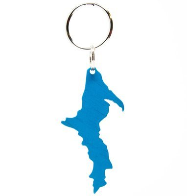 Upper Peninsula Key Chain - Blue Anodized