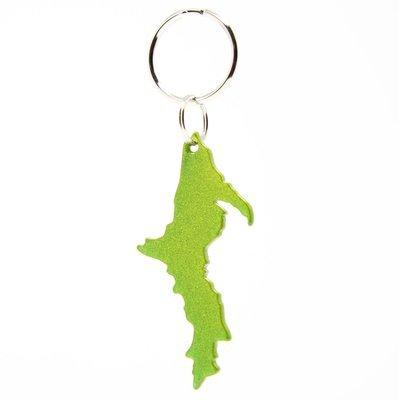 Upper Peninsula Key Chain - Sparkly Green