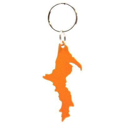 Upper Peninsula Key Chain - Sparkly Orange