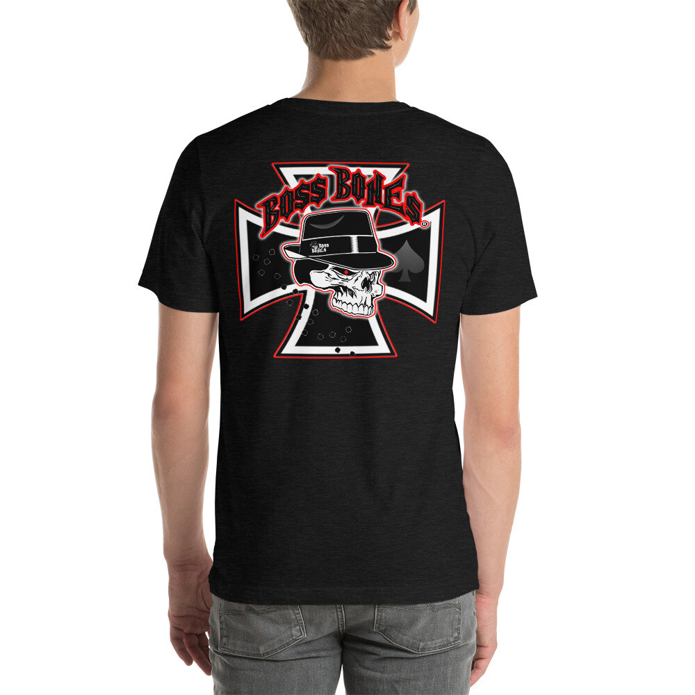 Boss Bones Iron Cross Short-Sleeve Unisex T-Shirt
