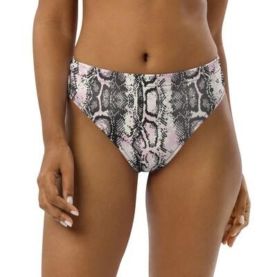 Boss Bones Pink Snake Recycled high-waisted bikini bottom