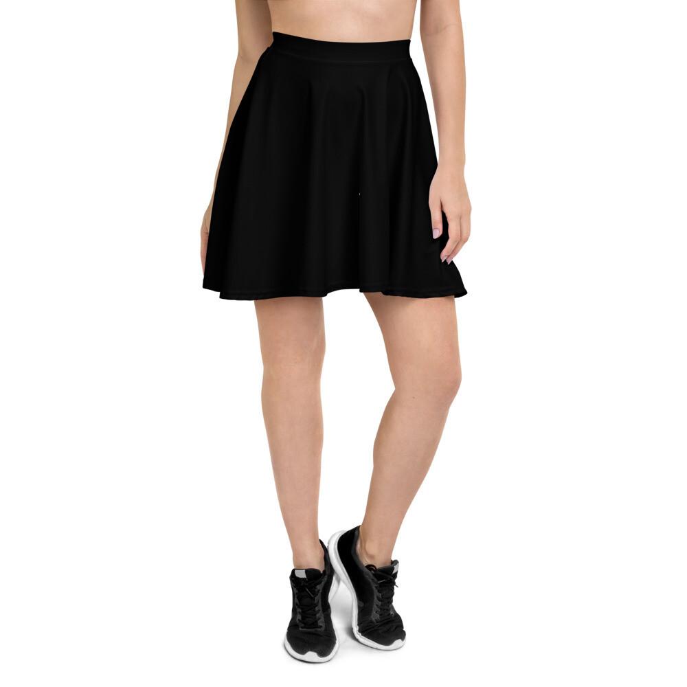 Boss Bones Black Skater Skirt