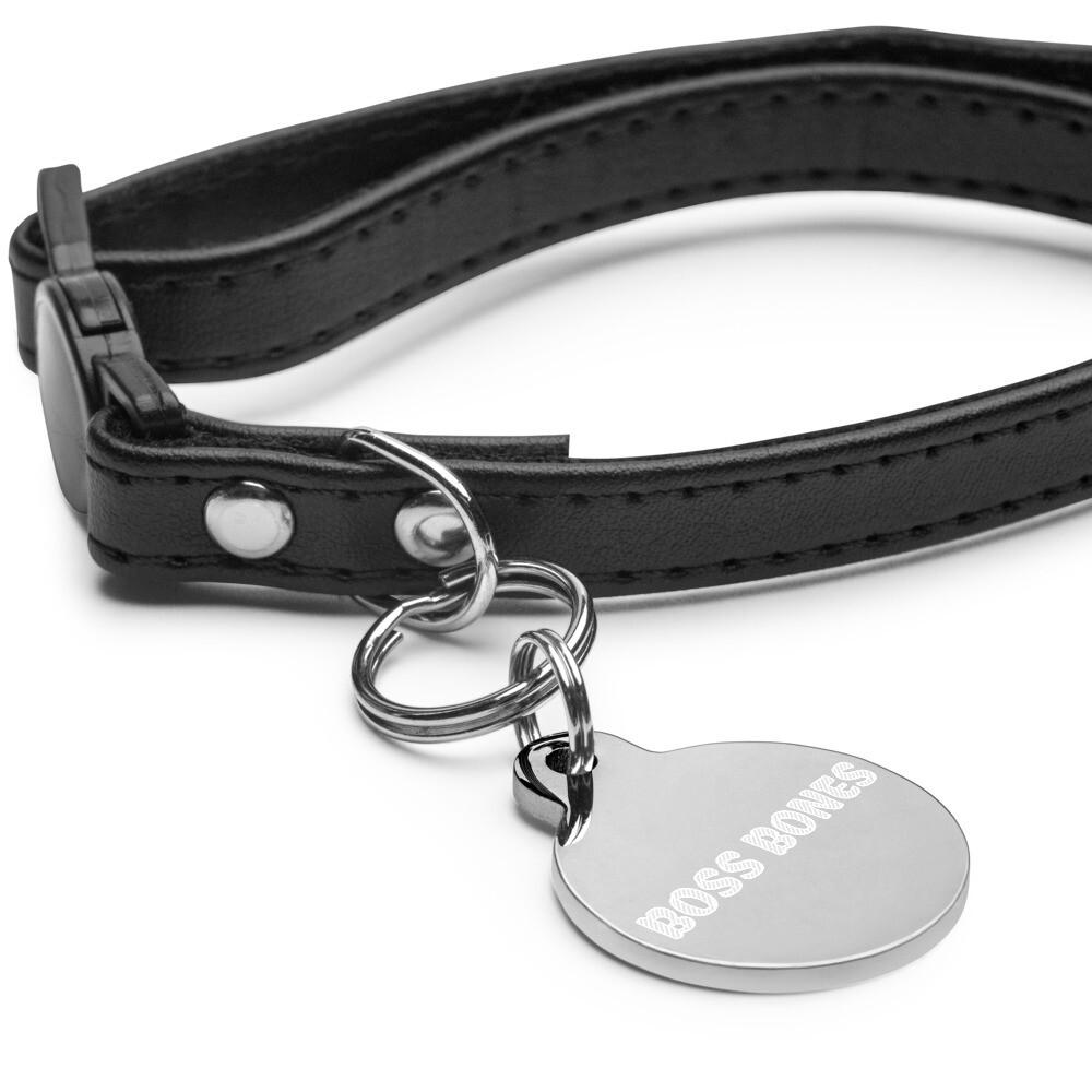 Boss Bones Dog pet ID tag