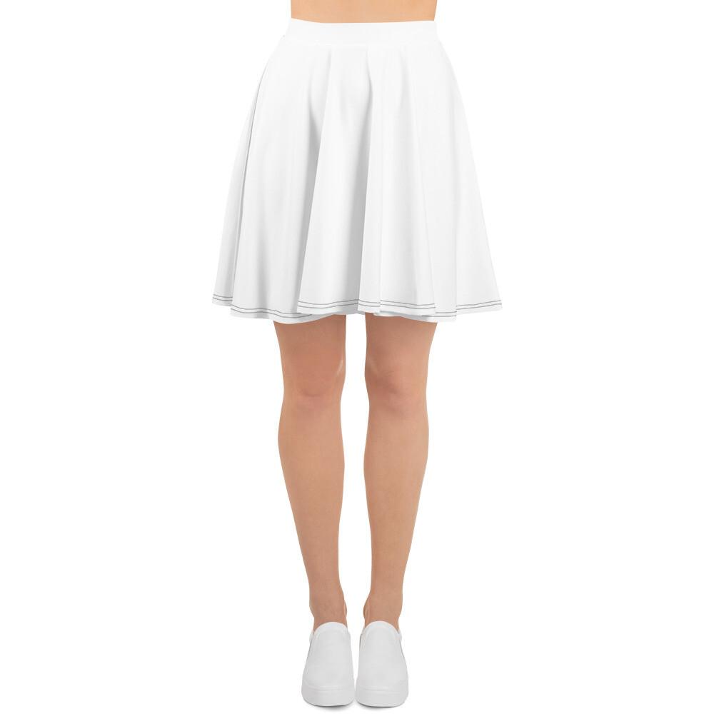 Boss Bones White Skater Skirt