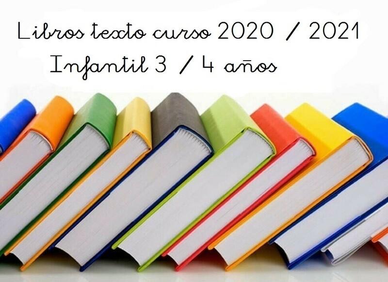 Libros 3-4 años Curso 2020 / 2021