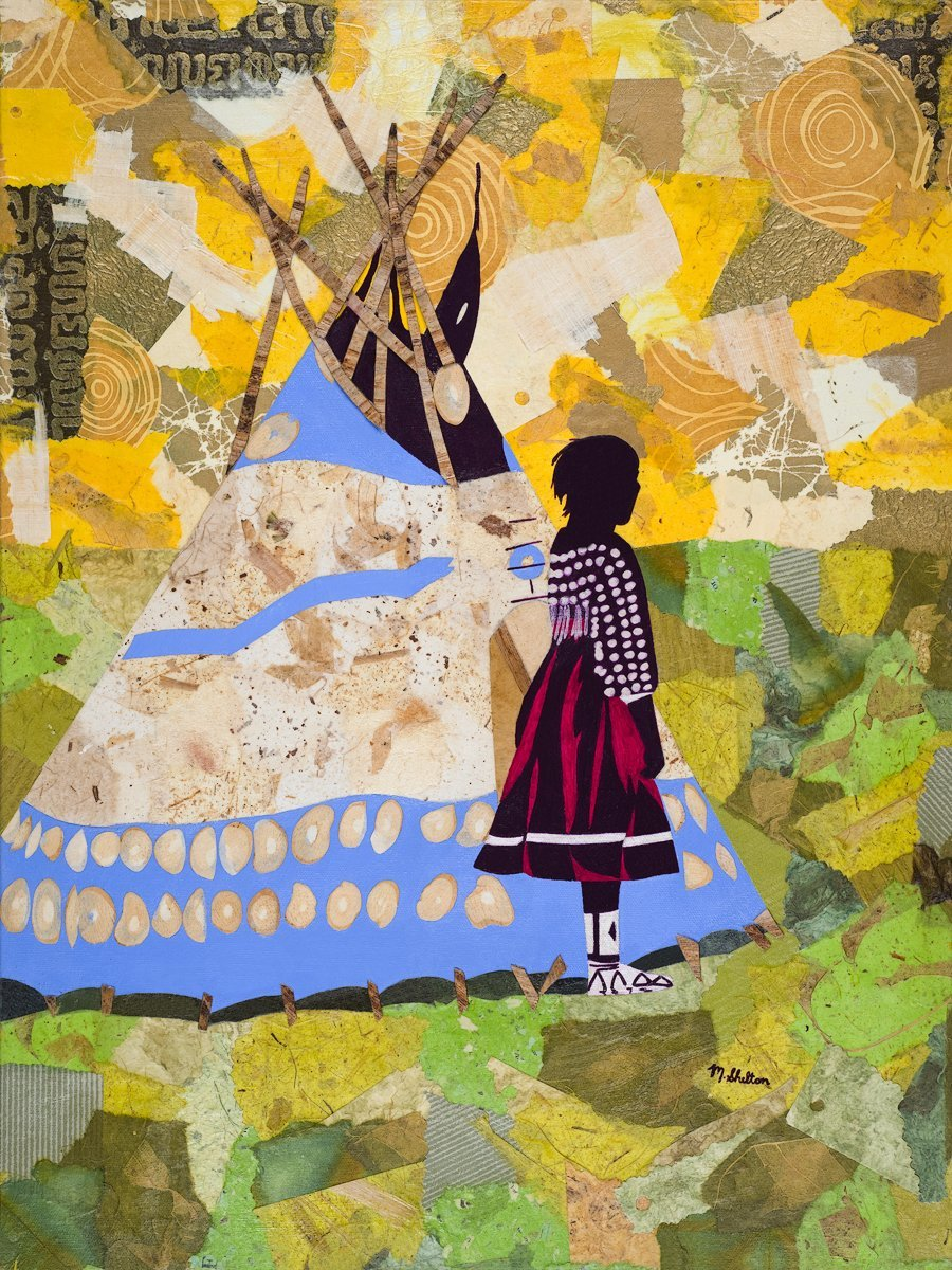 Piegan Girl with Play TePee