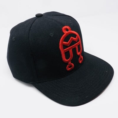 Peruvian Brothers Hat - Black Hat with Red Chullo Logo