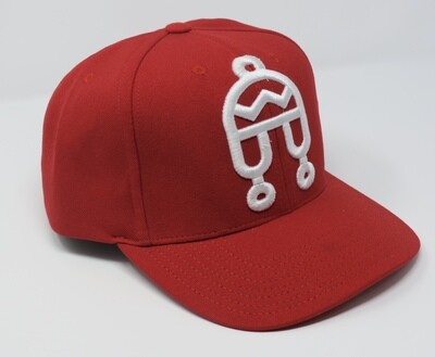 Peruvian Brothers Hat - Red Hat with White Chullo Logo
