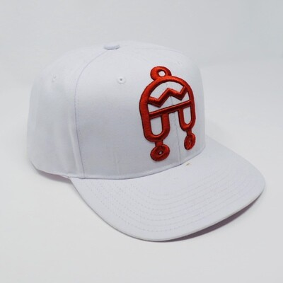 Peruvian Brothers Hat -White Hat with Red Chullo Logo