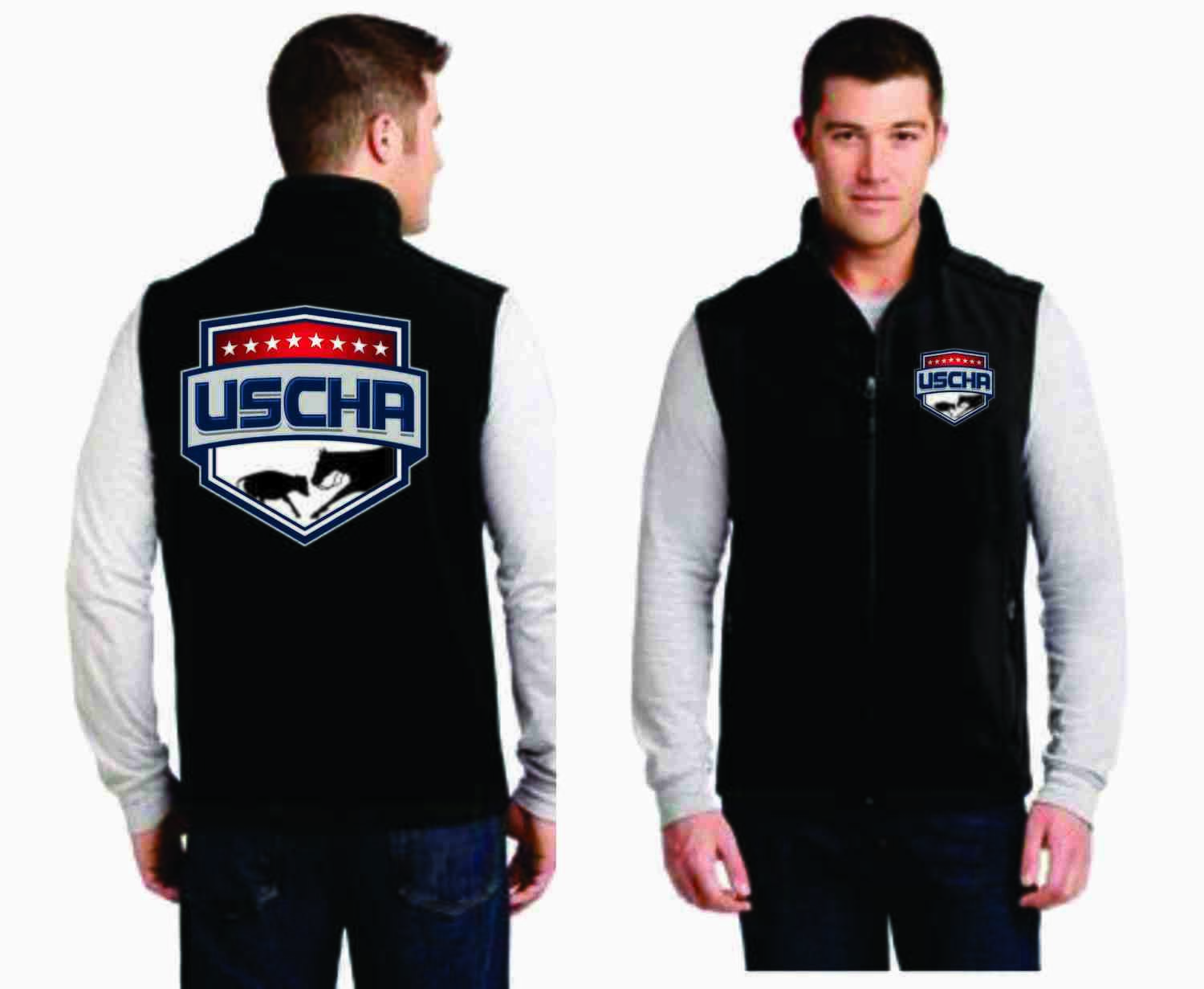 Mens Soft Shell USCHA Vest