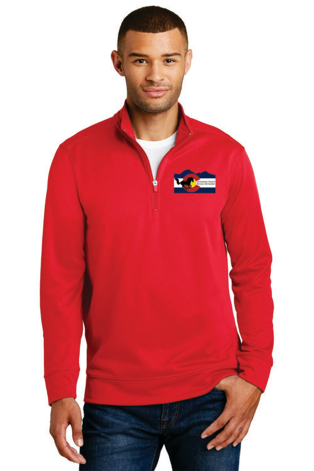 Colorado Horse Rescue Network 1/4 Zip Embroidered