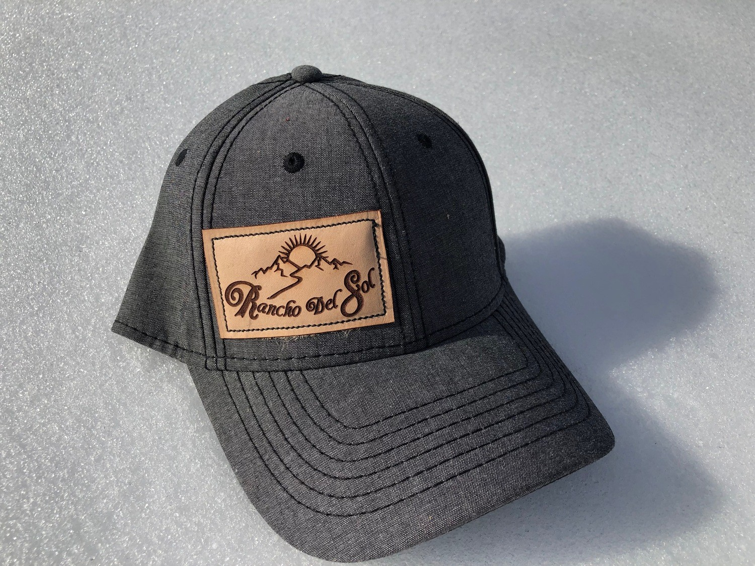 Leather Patch Hats Rancho Del Sol