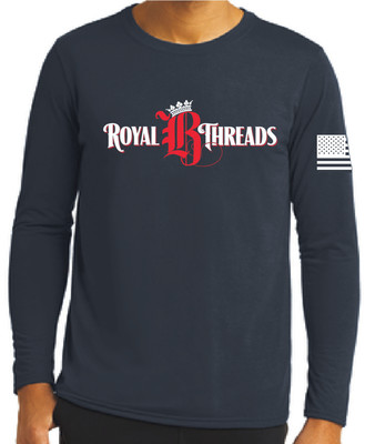 Royal B Threads - Navy Long Sleeve Tee