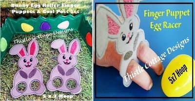 Bunny Egg Roller Puppets & Goal Post Set