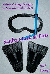 Scuba Mask and Swim Fins for 18